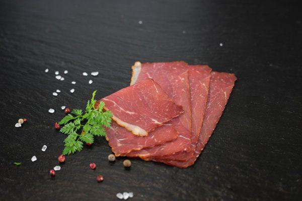 Rinderbrust geräuchert 100gr geschnitten