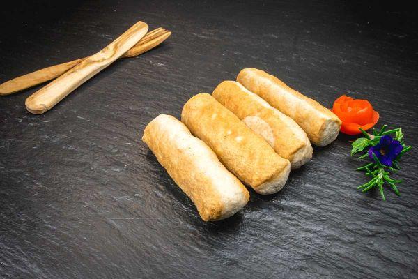Gschwollene Bratwurst ohne Haut 380gr 4 Stück Aus Rind- und Kalbfleisch hergestellt