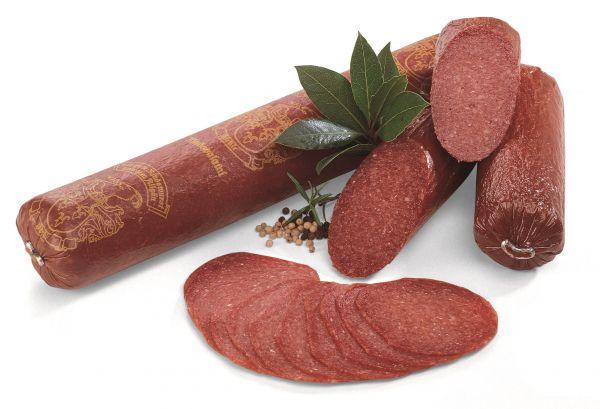 Allgäuer Rindssalami Rein Rind 100gr geschnitten