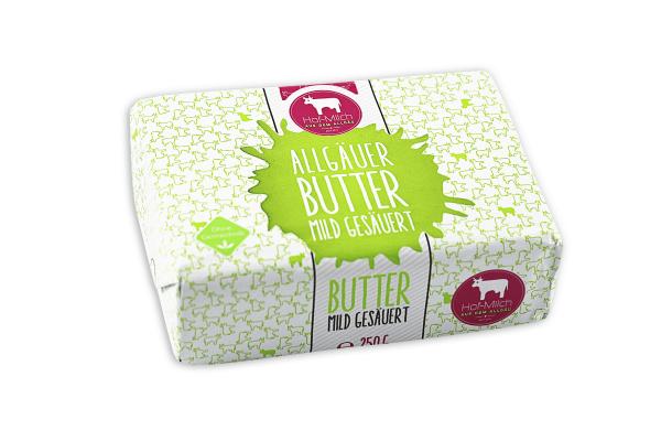 Allgäuer Hof-Milch Butter mild gesäuert 250g