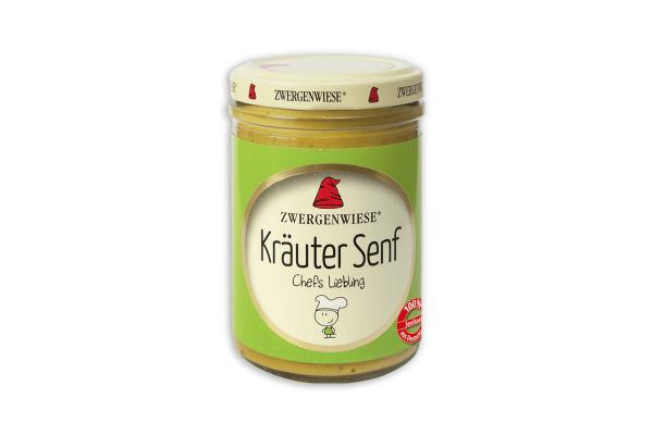 Bio Kräuter Senf von Zwergenwiese 160 ml Glas